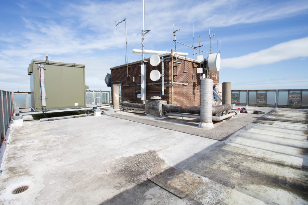 The rooftop of Invicta House where GB3EK is located.