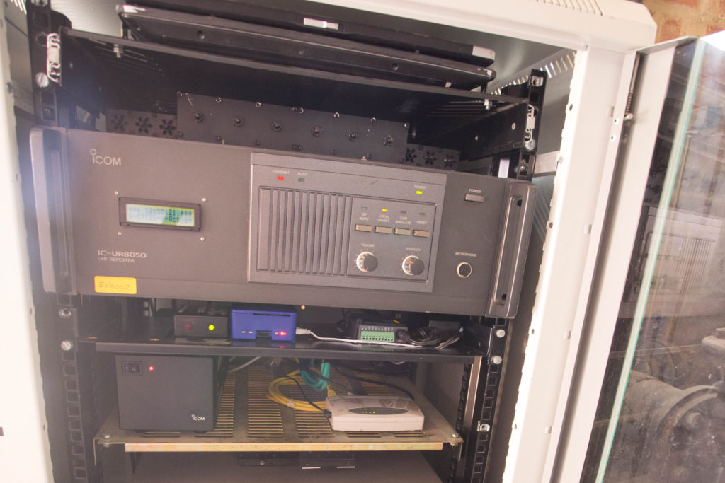 GB3EK repeater equipment and enclosure.